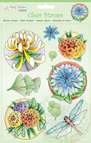 Marij Rahder - Clearstamp - Flowers - 9.0038