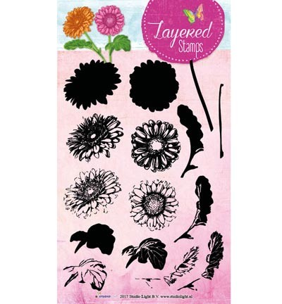 Studio Light - Layered Stamps - Flower - STAMPLS15