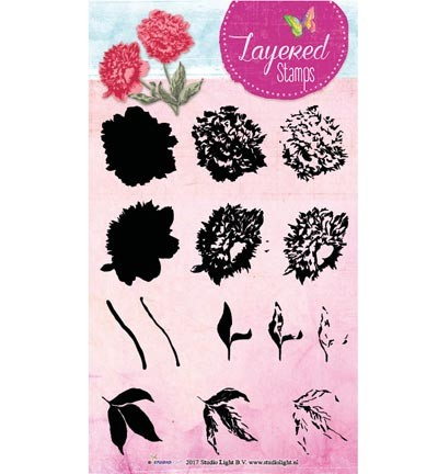Studio Light - Layered Stamps - Flower - STAMPLS14