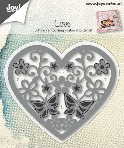 Joy! crafts - Die - Heart with Flowers / Butterfly