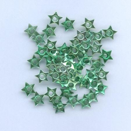 Hobby & Crafting Fun - Eyelets - Ster: Groen - 12043-4324