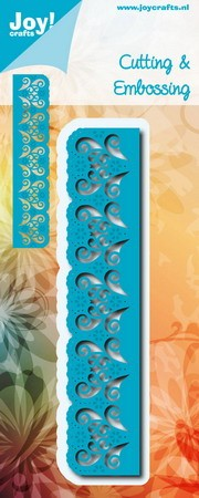 Joy! crafts - Noor! Design - Die - Border with Carving & Flowers