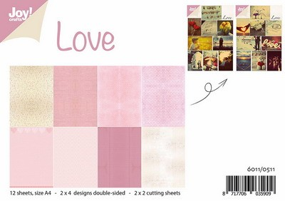 Joy! crafts - Paperset - Papierset + 4 knipvellen - Love - 6011/0511