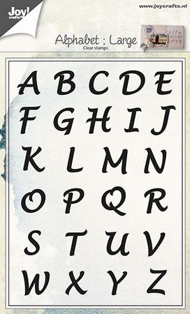 Joy! crafts - Clearstamp - Alphabet (Large) - 6410/0437
