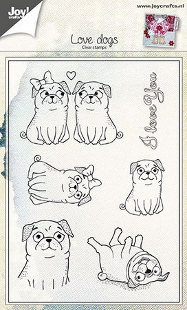 Joy! crafts - Clearstamp - Love Dogs - 6410/0442