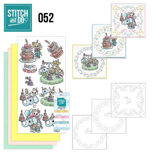 Card Deco - Kaartenpakket - Stitch & Do No. 52 - Tods and Toddlers - STDO052