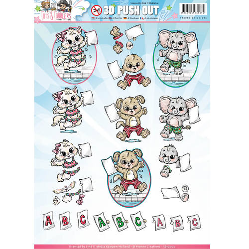 Yvonne Creations - Uitdrukvel A4 - Tots and Toddlers - SB10146