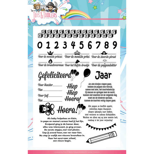 Yvonne Creations - Clearstamp - Tots and Toddlers - Tekst - YCCS10031