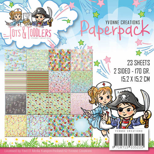 Yvonne Creations - Paperpack - Tots and Toddlers - YCPP10012