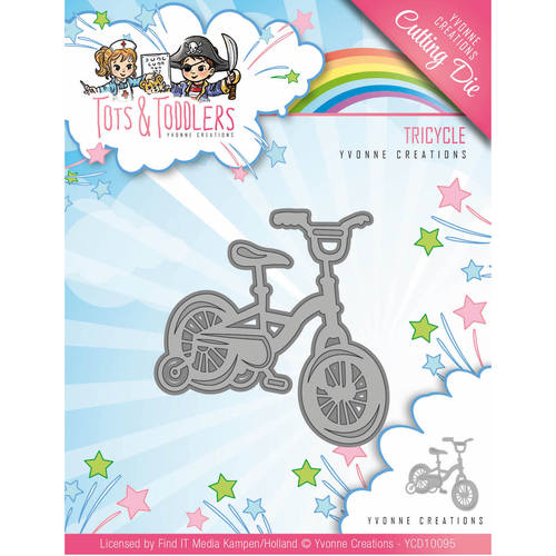 Yvonne Creations - Die - Tots and Toddlers - Tricycle - YCD10095