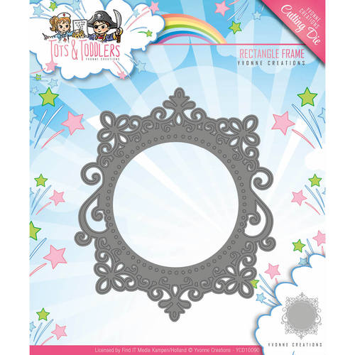 Yvonne Creations - Die - Tots and Toddlers - Rectangle Frame