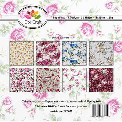 Dixi Craft - Paperpack - Retro Flowers - PP0072