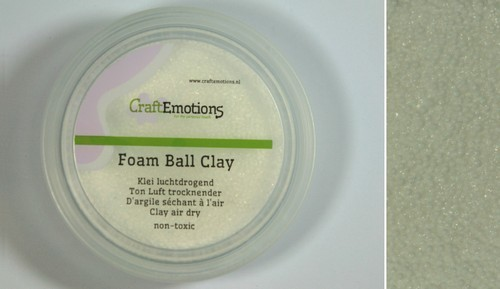 CraftEmotions - Klei - Foam Ball Clay: Wit (15gr) - 610110/0201