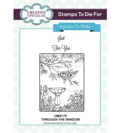 Creative Expressions - Cling Stamp - Stamps To Die For - Through The Window - UMS775