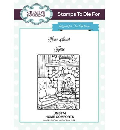 Creative Expressions - Cling Stamp - Stamps To Die For - Home Comforts - UMS774