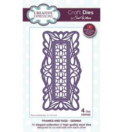 Creative Expressions - Die - The Frames & Tags Collection - Gemma - CED4322