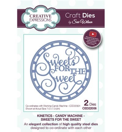 Creative Expressions - Die - The Kinetics Collection - Candy Machine - Sweets for the Sweet