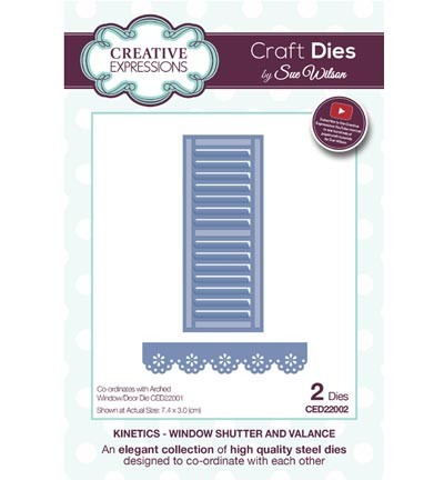 Creative Expressions - Die - The Kinetics Collection - Window Shutter and Valance