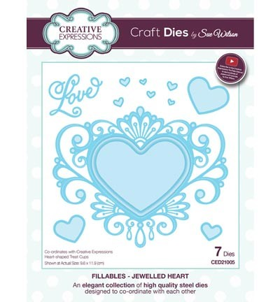 Creative Expressions - Die - The Fillables Collection - Jewelled Heart