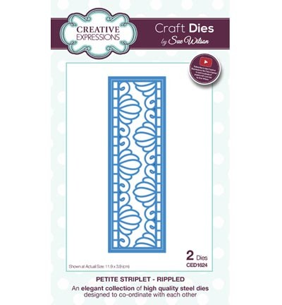 Creative Expressions - Die - The Striplets Collection - Rippled - CED1624