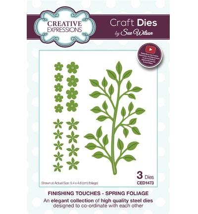Creative Expressions - Die - The Finishing Touches Collection - Spring Foliage