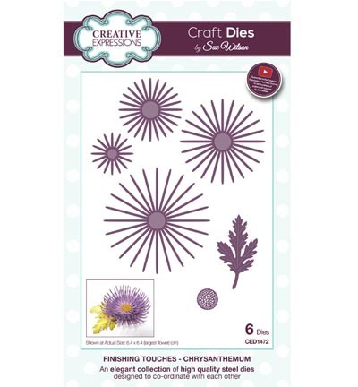 Creative Expressions - Die - The Finishing Touches Collection - Chrysanthemum - CED1472
