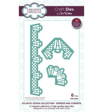 Creative Expressions - Die - The Atlantic Ocean Collection - Border & Corners