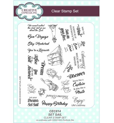 Creative Expressions - Clearstamp - Set Sail - CEC814