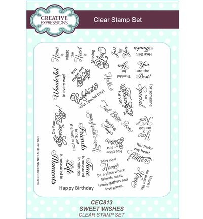 Creative Expressions - Clearstamp - Sweet Wishes - CEC813