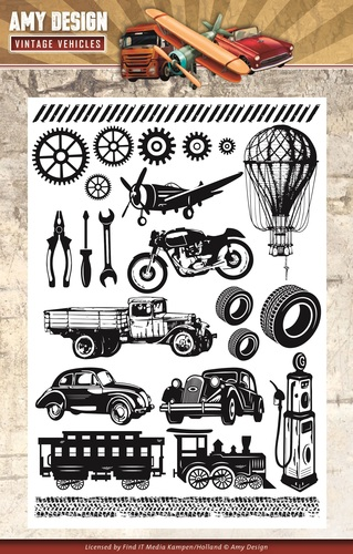 Amy Design - Clearstamp - Vintage Vehicles - ADCS10014