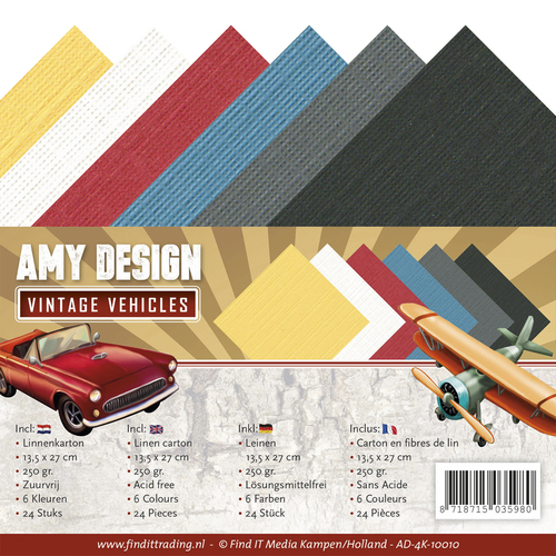 Amy Design - Linnenpakket 135 x 270mm - Vintage Vehicles - AD-4K-10010