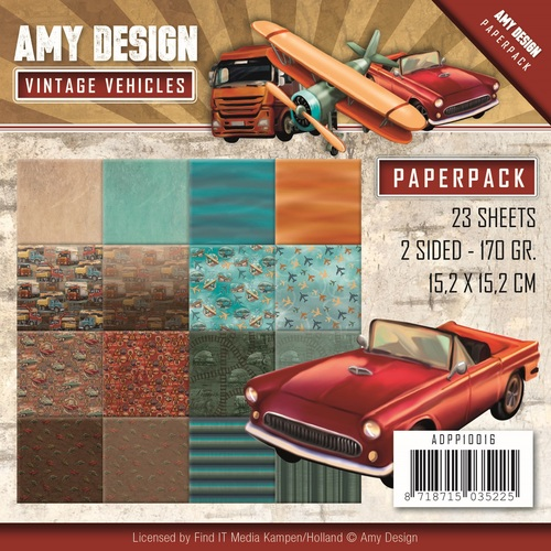 Card Deco - Amy Design - Paperpack - Vintage Vehicles
