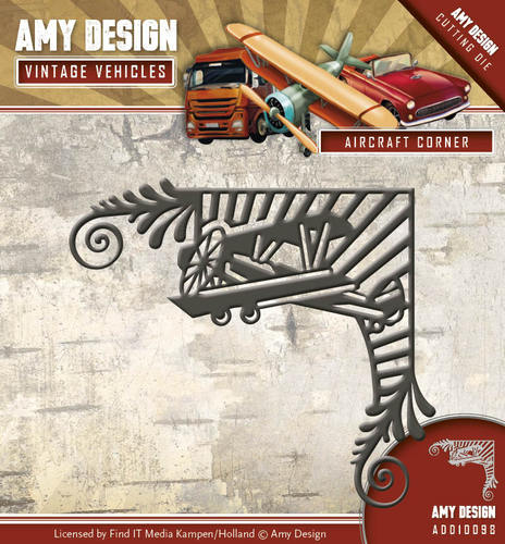 Amy Design - Die - Vintage Vehicles - Aircraft Corner - ADD10098