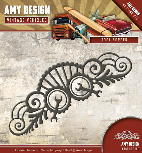 Amy Design - Die - Vintage Vehicles - Tool Border - ADD10096