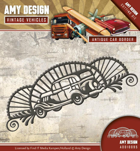 Amy Design - Die - Vintage Vehicles - Antique car border - ADD10095
