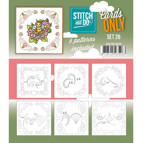 Card Deco - Stitch & Do - Oplegkaarten - Cards only - Set 26 - COSTDO10026