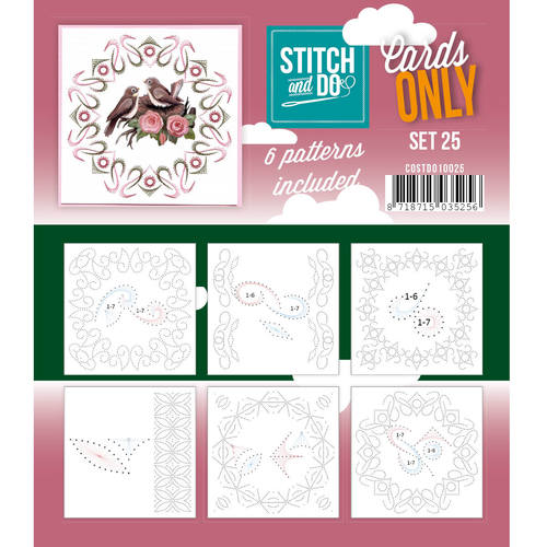 Card Deco - Stitch & Do - Oplegkaarten - Cards only - Set 25 - COSTDO10025