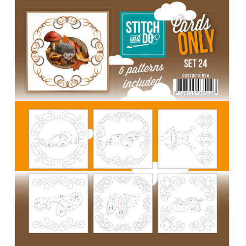 Card Deco - Stitch & Do - Oplegkaarten - Cards only - Set 24 - COSTDO10024