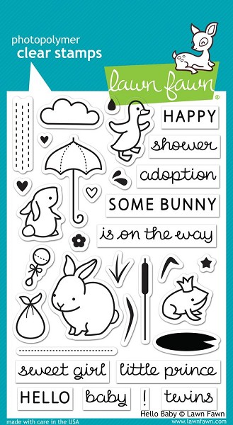 Lawn Fawn - Clearstamps - Hello Baby - LF0673