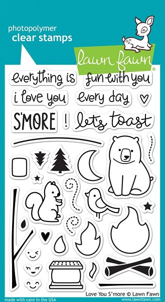 Lawn Fawn - Clearstamps - Love you s`more - LF0671