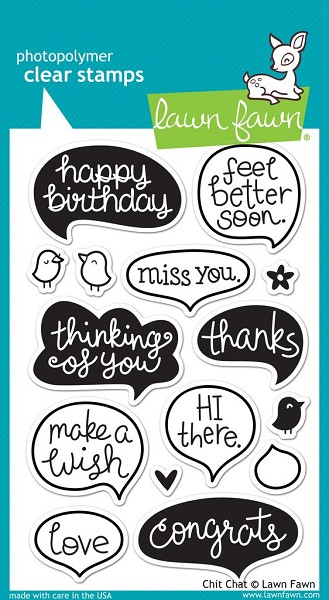 Lawn Fawn - Clearstamps - Chit Chat - LF669