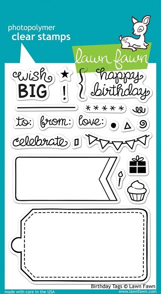 Lawn Fawn - Clearstamps - Birthday Tags - LF663