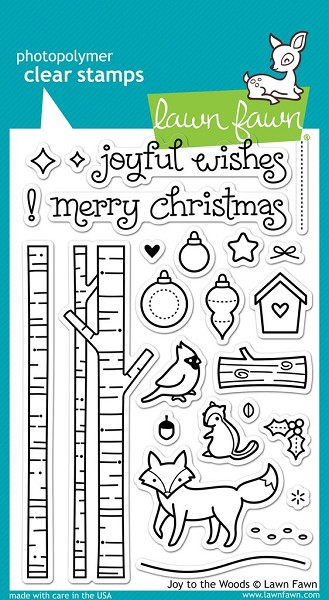 Lawn Fawn - Clearstamps - Joy to the woods - LF0706