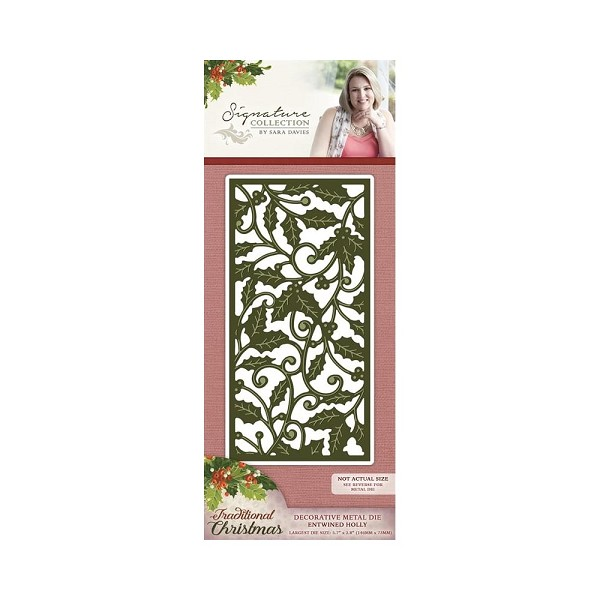 Crafter`s Companion - Sara Davies - Die - Traditional Christmas - Entwined Holly