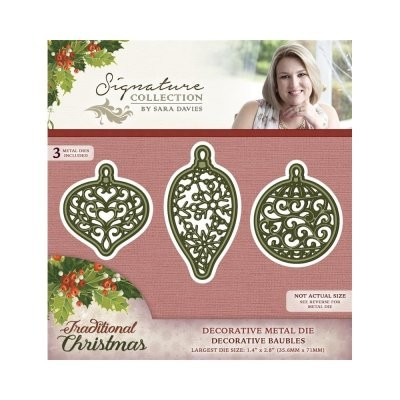 Crafter`s Companion - Sara Davies - Die - Traditional Christmas - Decorative Baubles