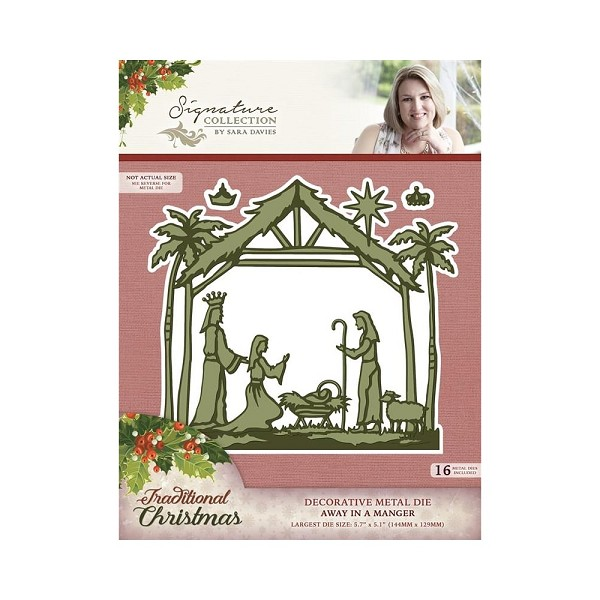 Crafter`s Companion - Sara Davies - Die - Traditional Christmas - Away in a manger