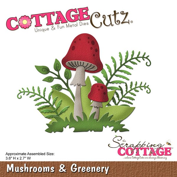 Cottage Cutz - Die - Mushrooms & Greenery - CC-231
