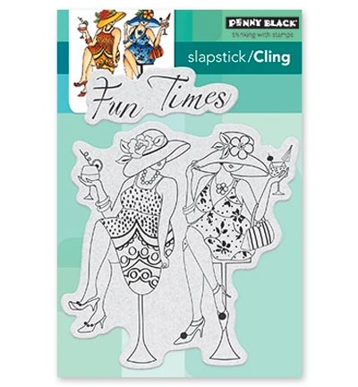 Penny Black - Cling Stamp - Fun Time Girls - 40-531