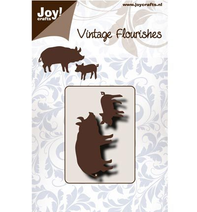 Joy! crafts - Noor! Design - Die - Vintage Flourishes - Pigs
