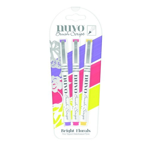 Nuvo - Fine Tipped Waterbased Pens: Bright Florals